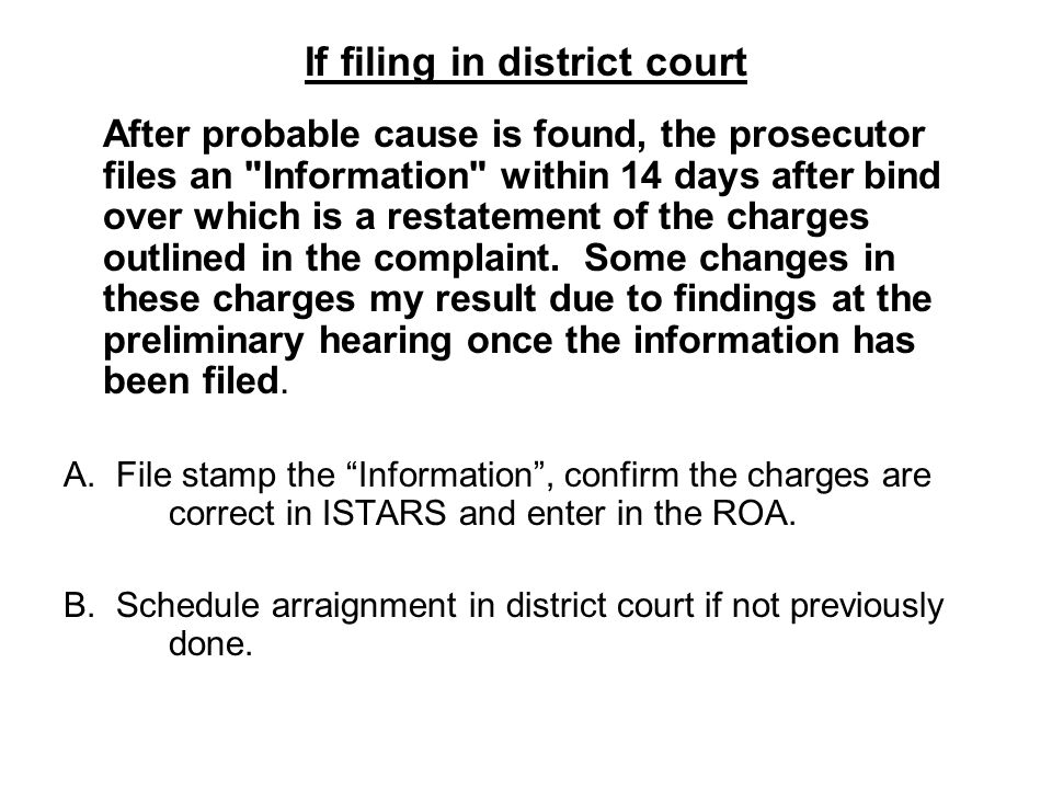 If filing in district court