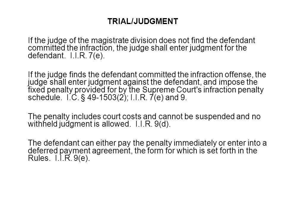 TRIAL/JUDGMENT