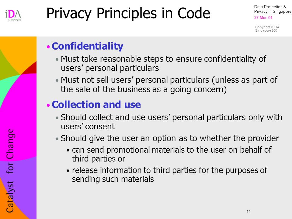 Privacy Principles in Code
