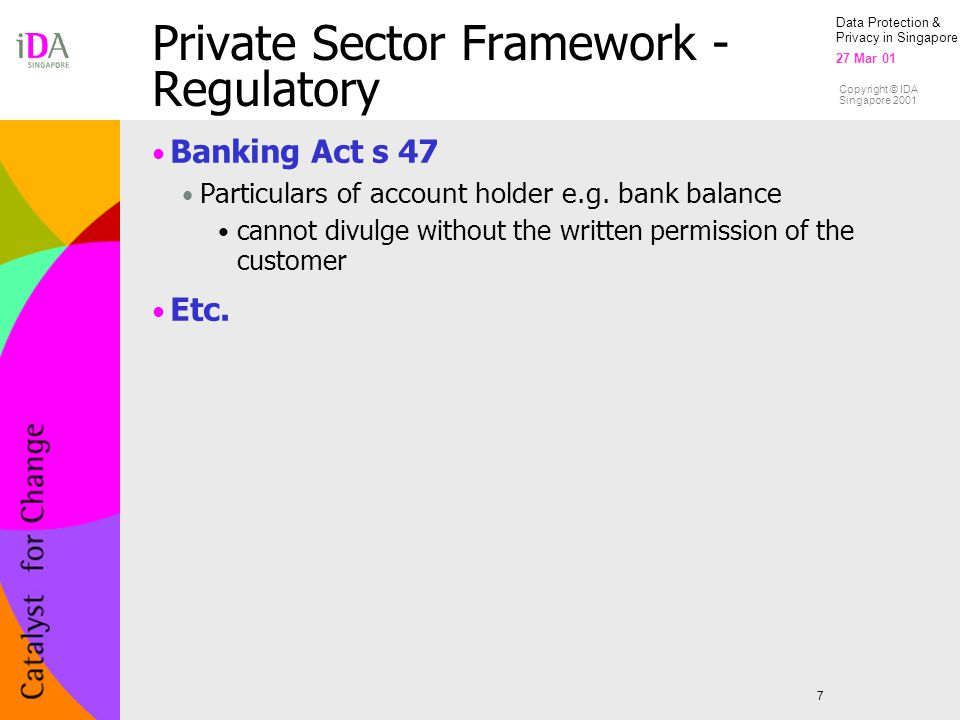 Private Sector Framework - Regulatory