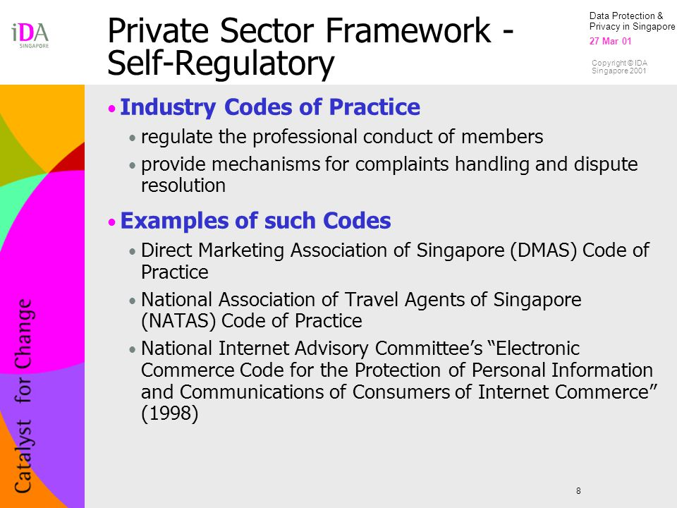 Private Sector Framework - Self-Regulatory