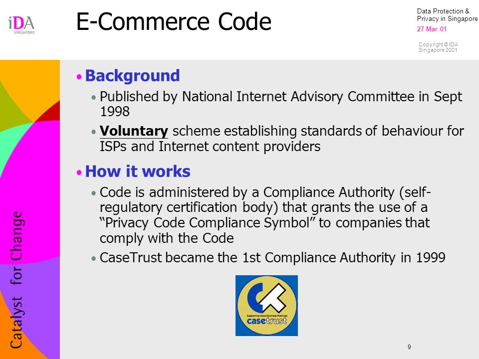 E-Commerce Code Background How it works