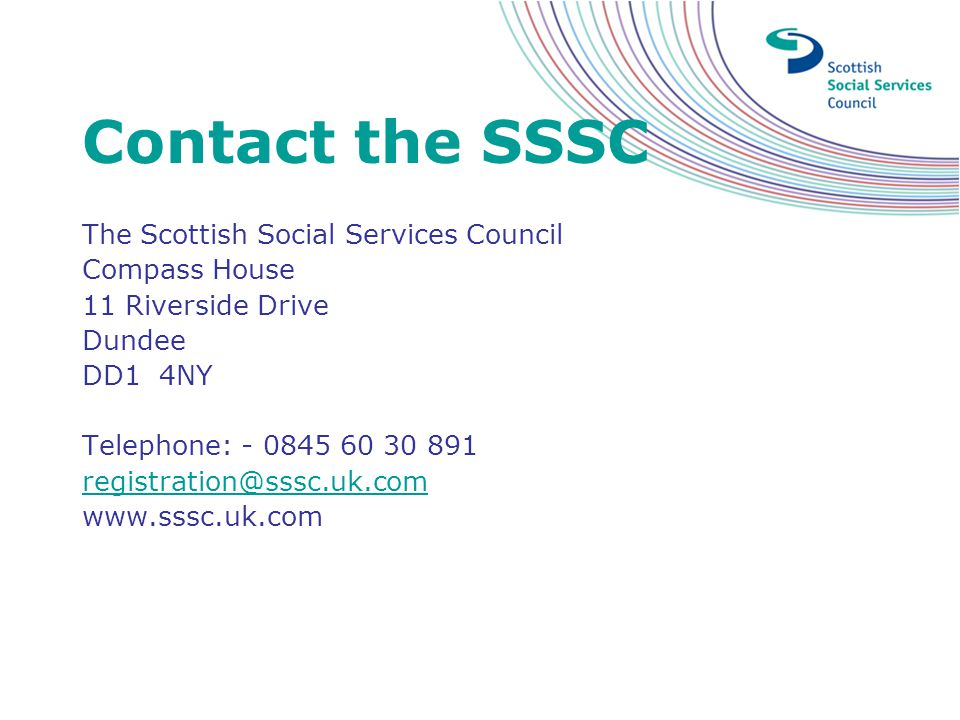 Contact the SSSC