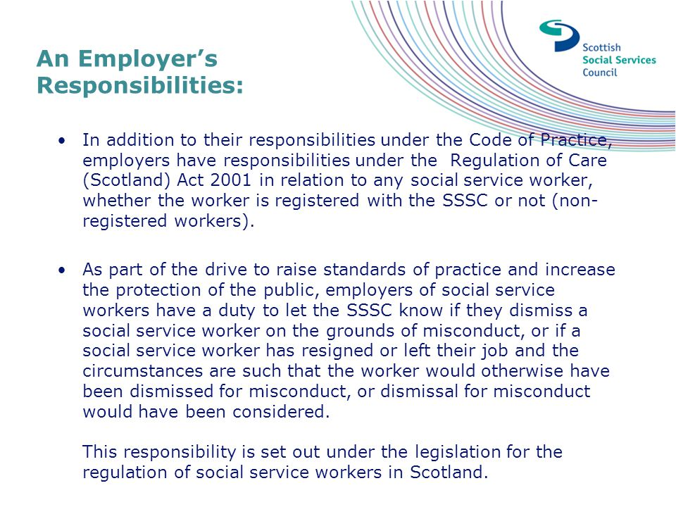 An Employer's Responsibilities: