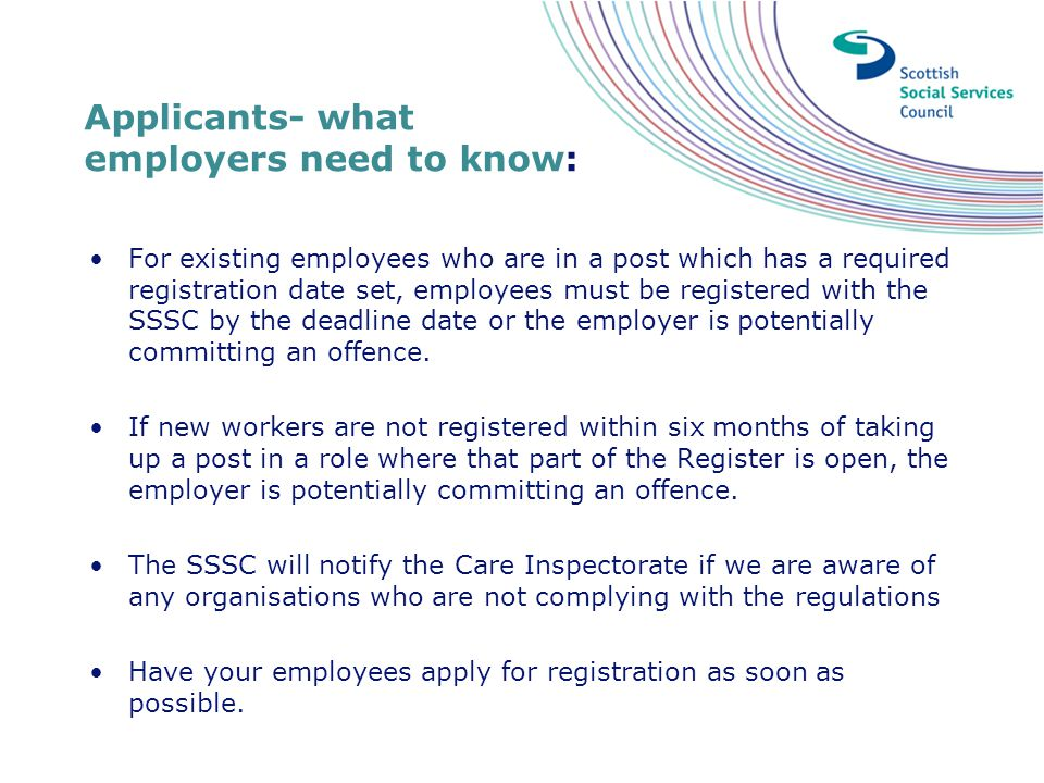Applicants- what employers need to know: