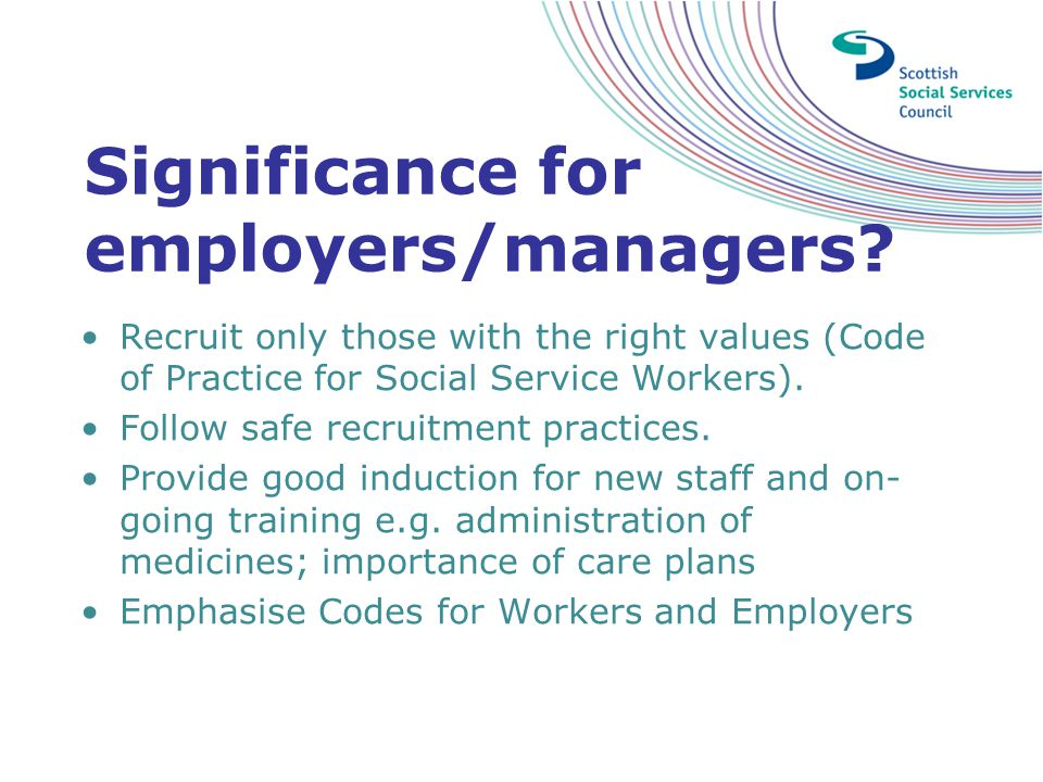 Significance for employers/managers