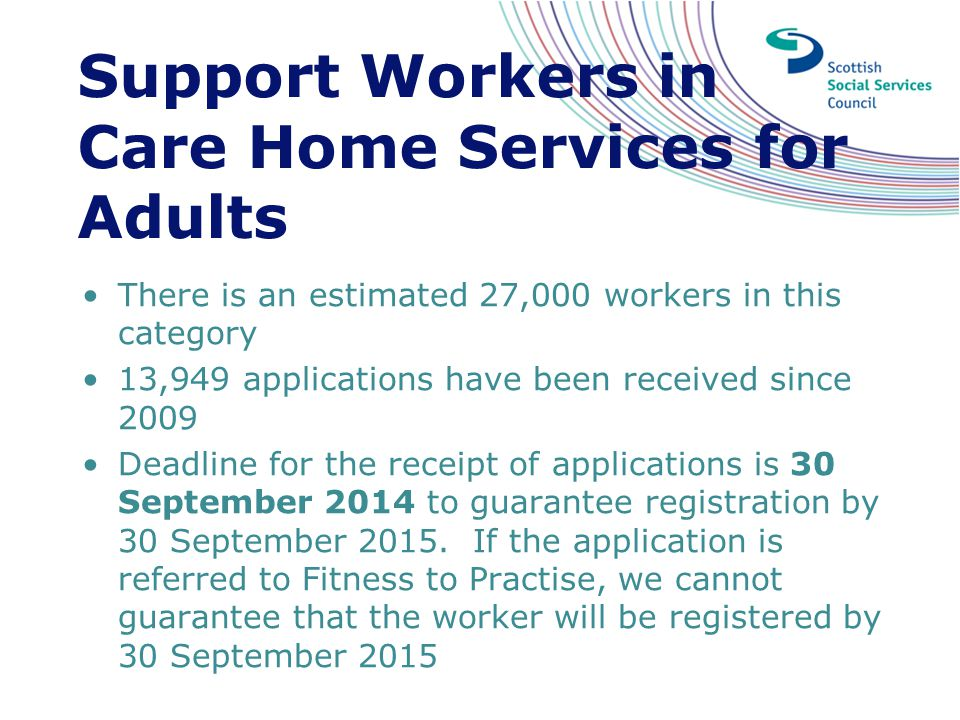 Support Workers in Care Home Services for Adults