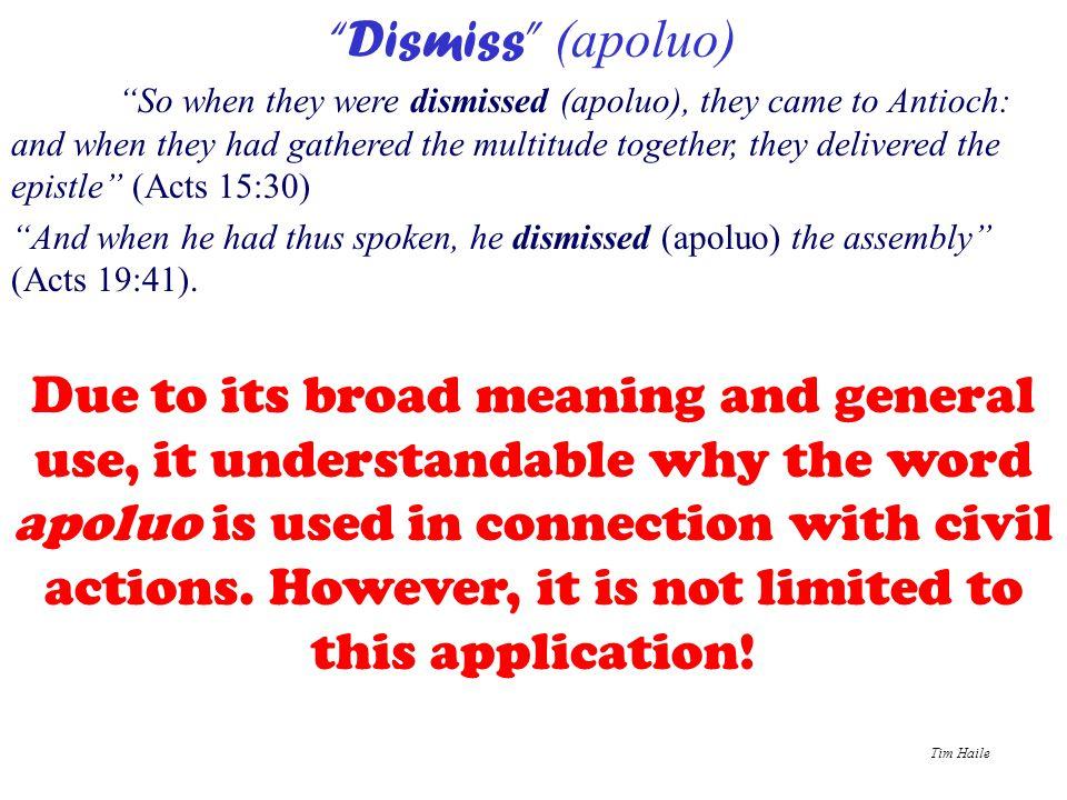 Dismiss (apoluo)