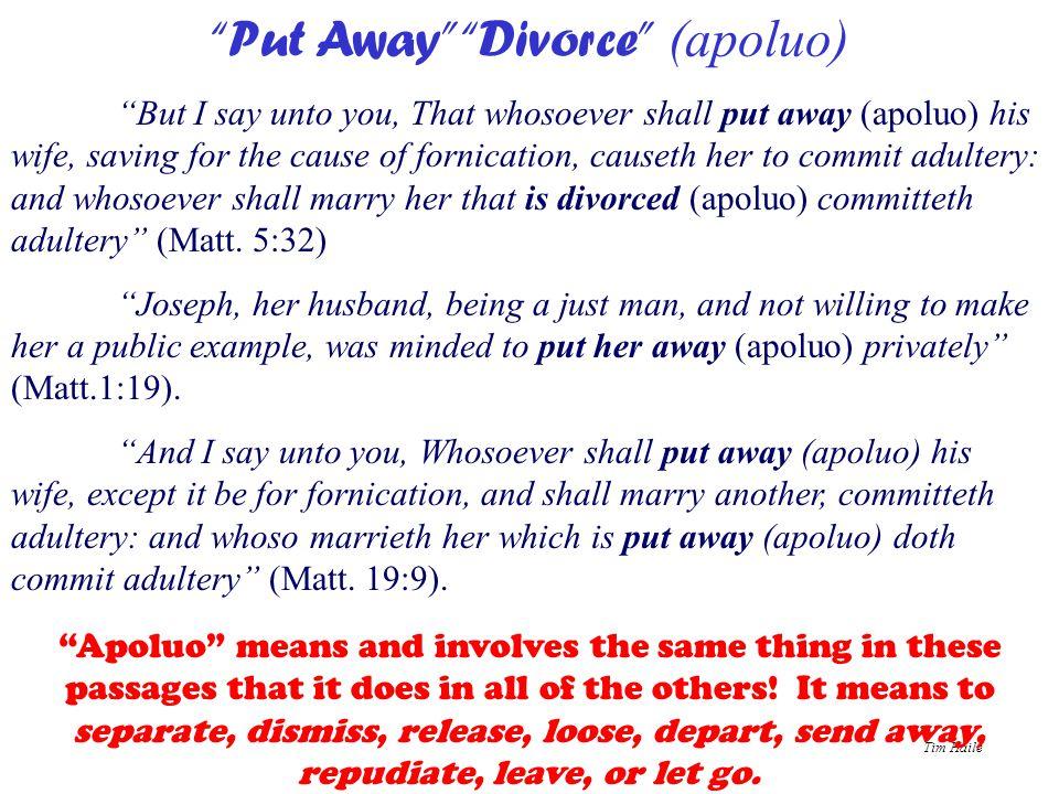 Put Away Divorce (apoluo)