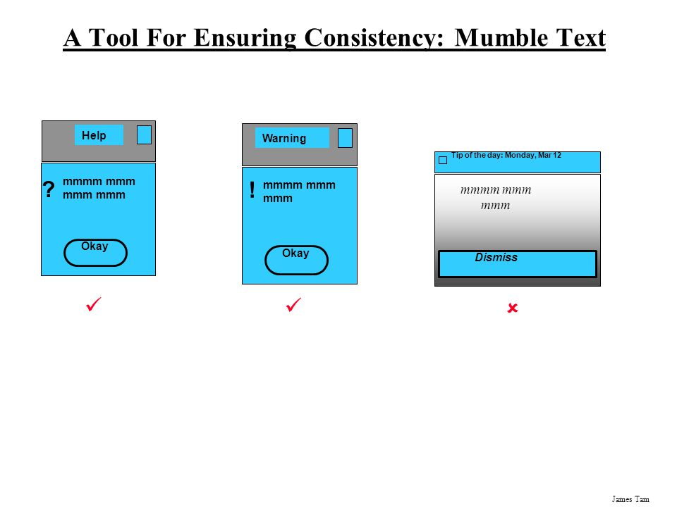 A Tool For Ensuring Consistency: Mumble Text