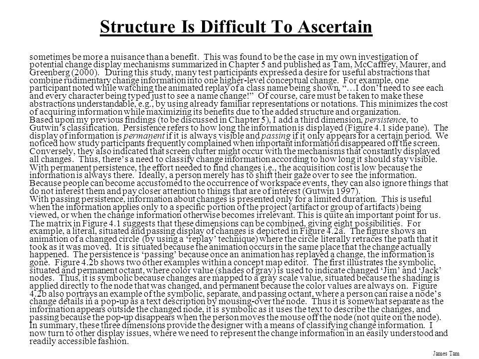 Structure Is Difficult To Ascertain