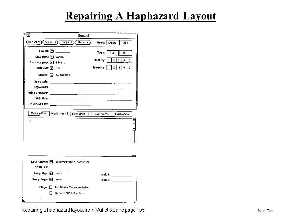 Repairing A Haphazard Layout
