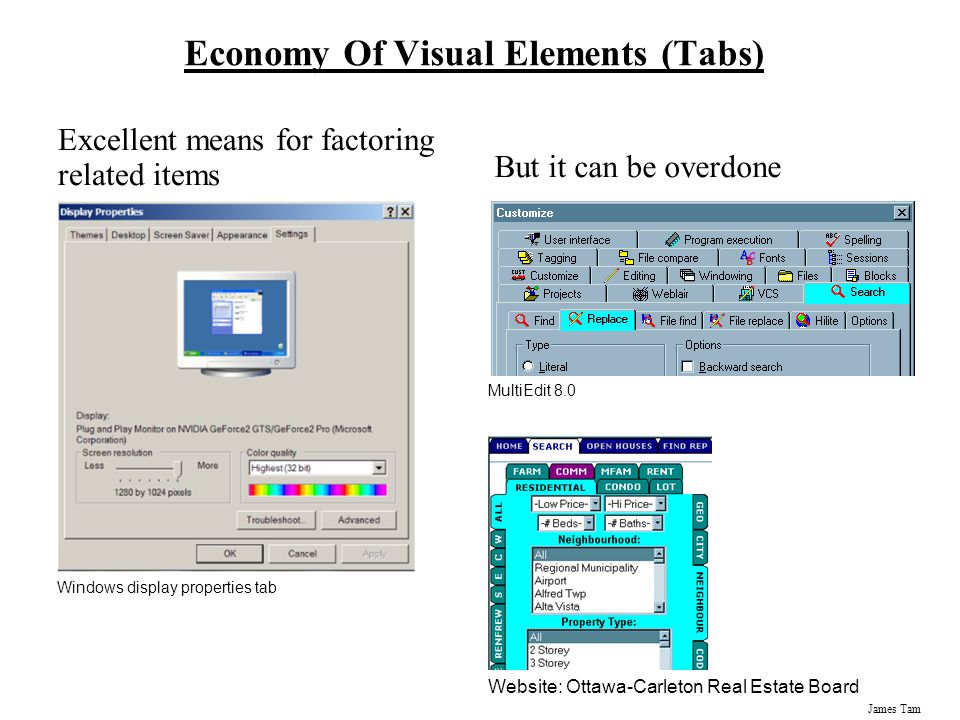 Economy Of Visual Elements (Tabs)