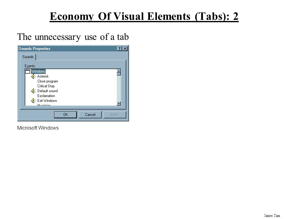 Economy Of Visual Elements (Tabs): 2