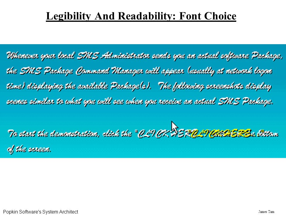 Legibility And Readability: Font Choice