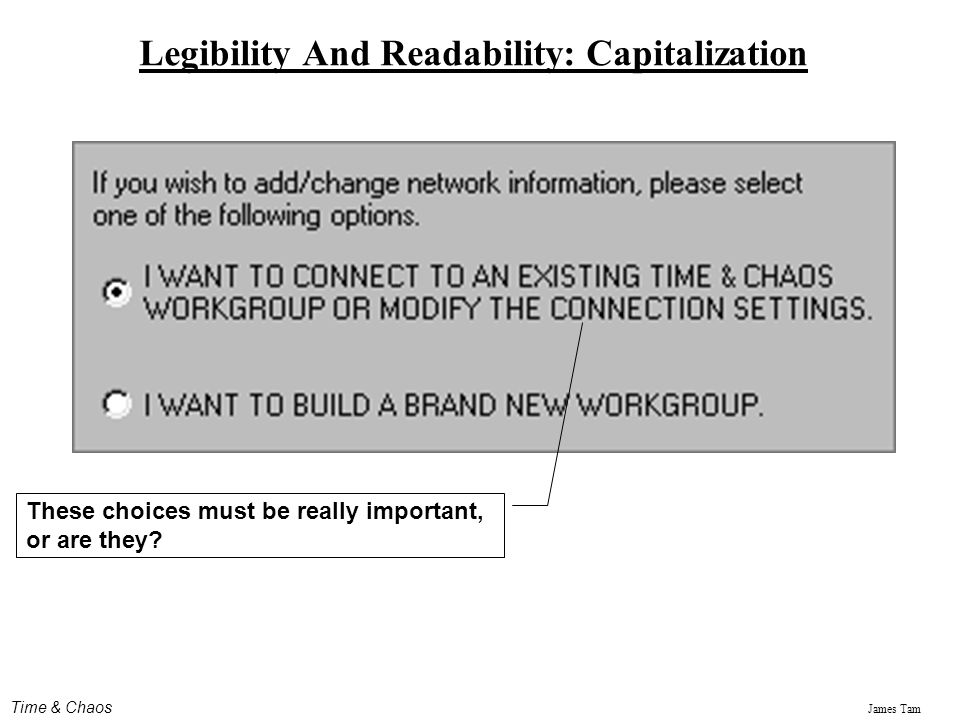 Legibility And Readability: Capitalization