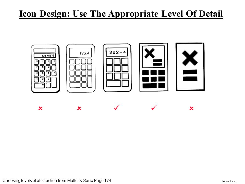 Icon Design: Use The Appropriate Level Of Detail