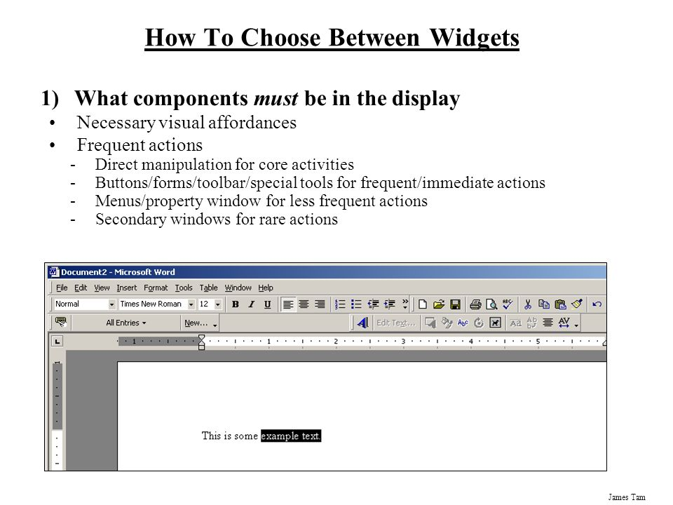 How To Choose Between Widgets