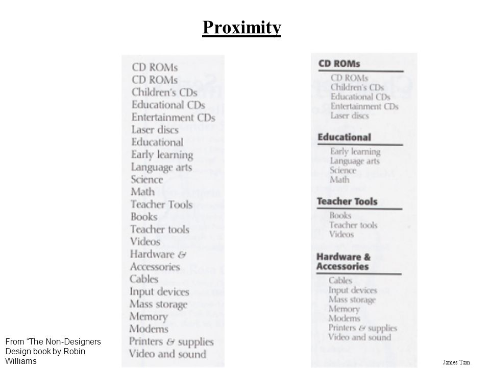 Proximity From The Non-Designers Design book by Robin Williams