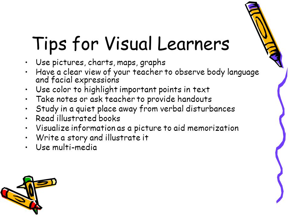 Tips for Visual Learners