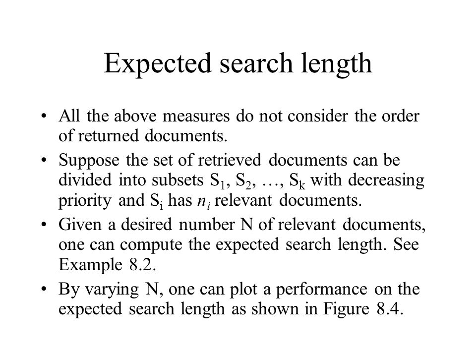 Expected search length