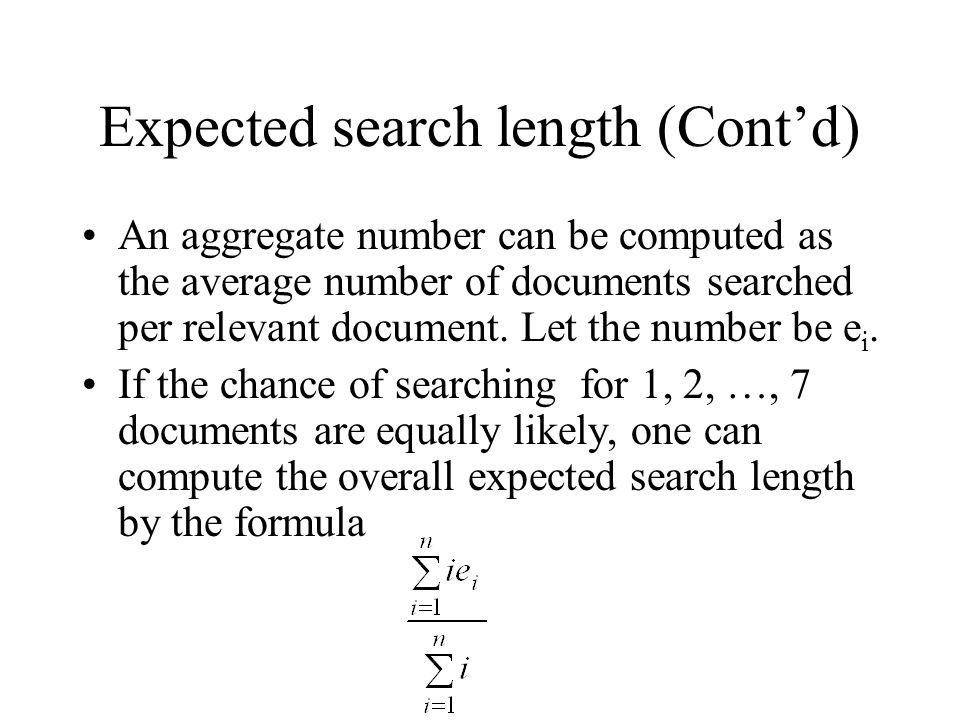 Expected search length (Cont'd)