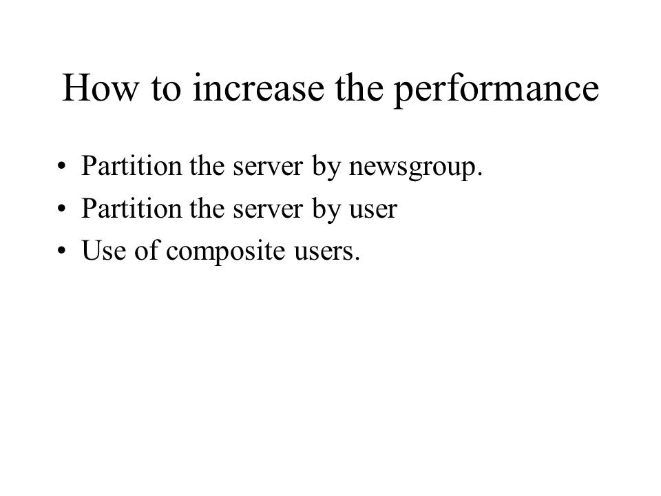 How to increase the performance