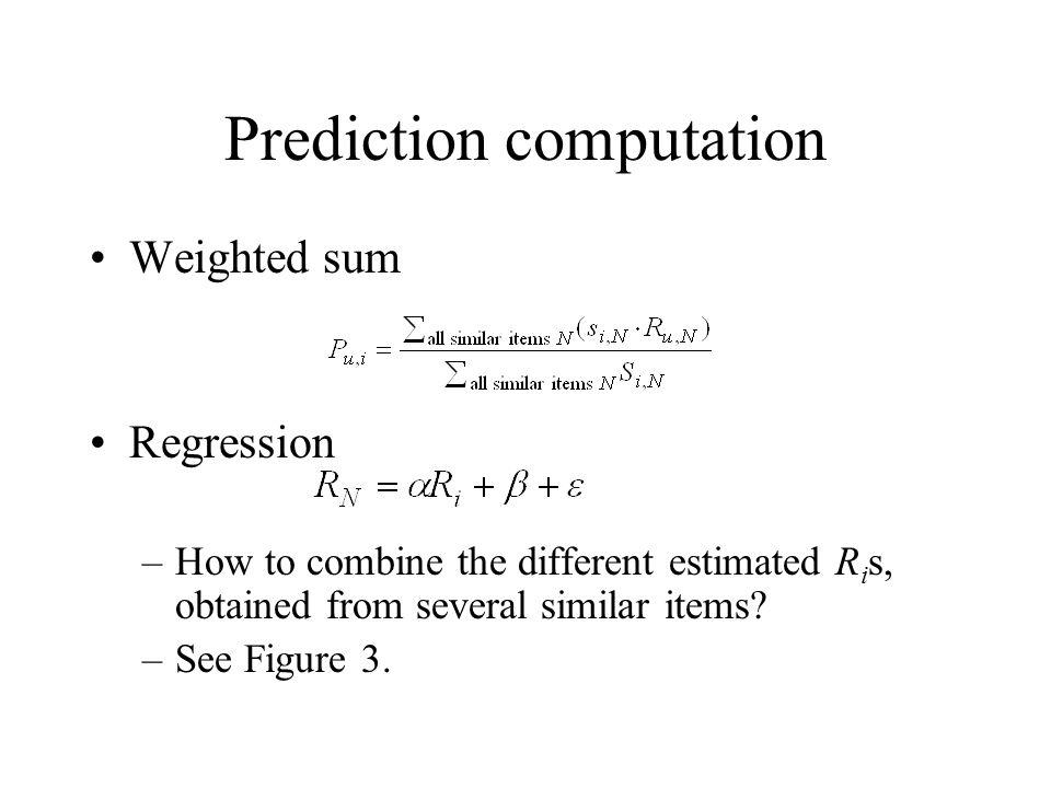 Prediction computation