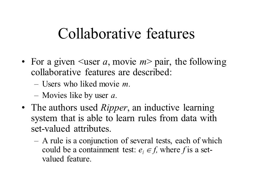 Collaborative features