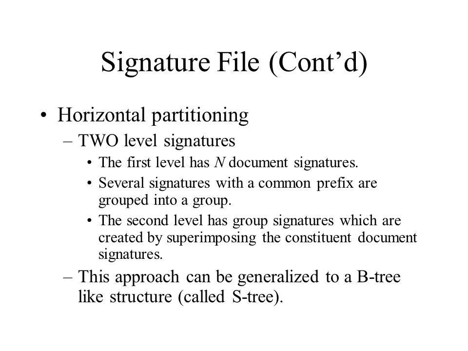 Signature File (Cont'd)
