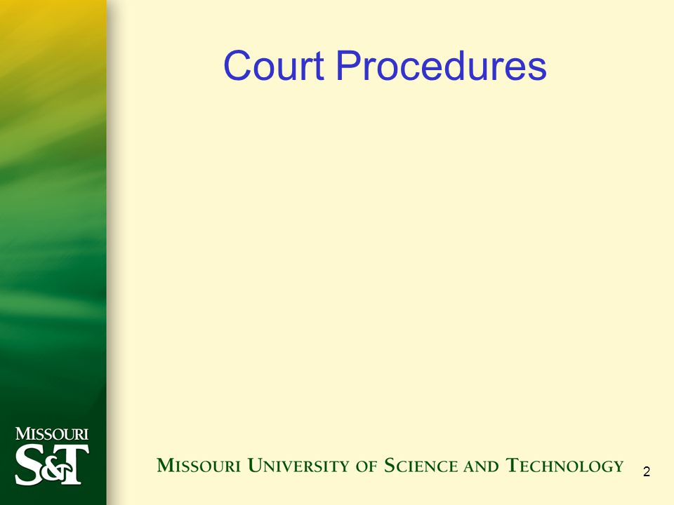 Court Procedures