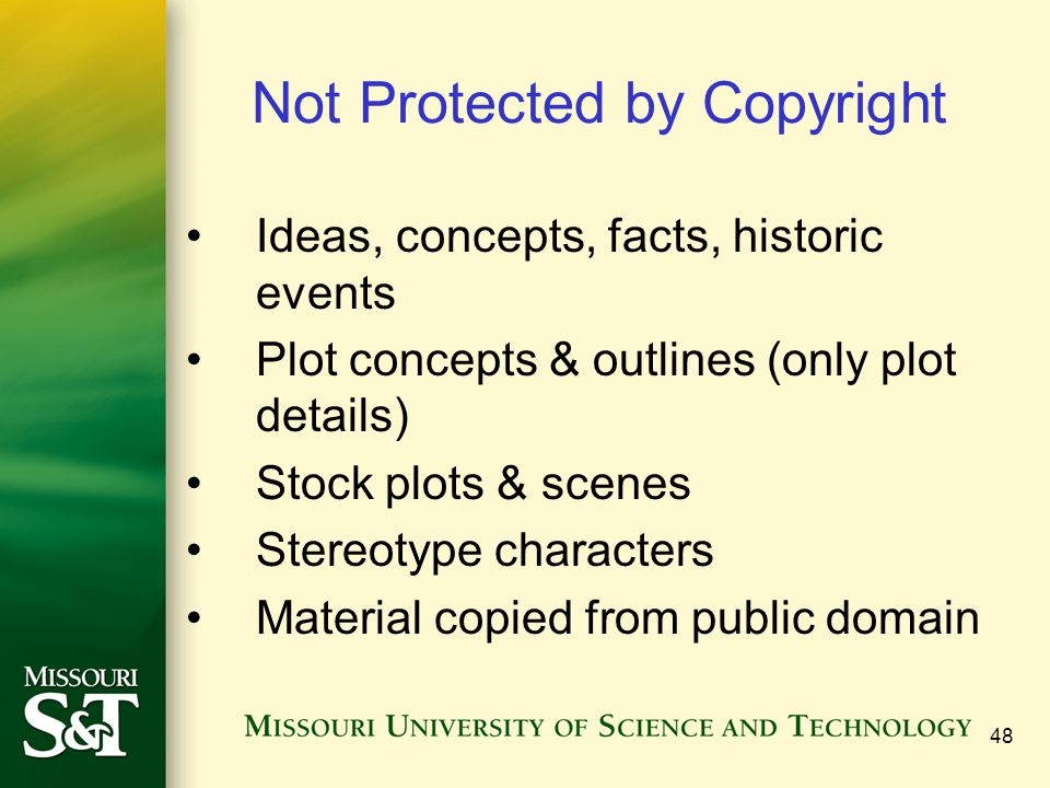 Not Protected by Copyright
