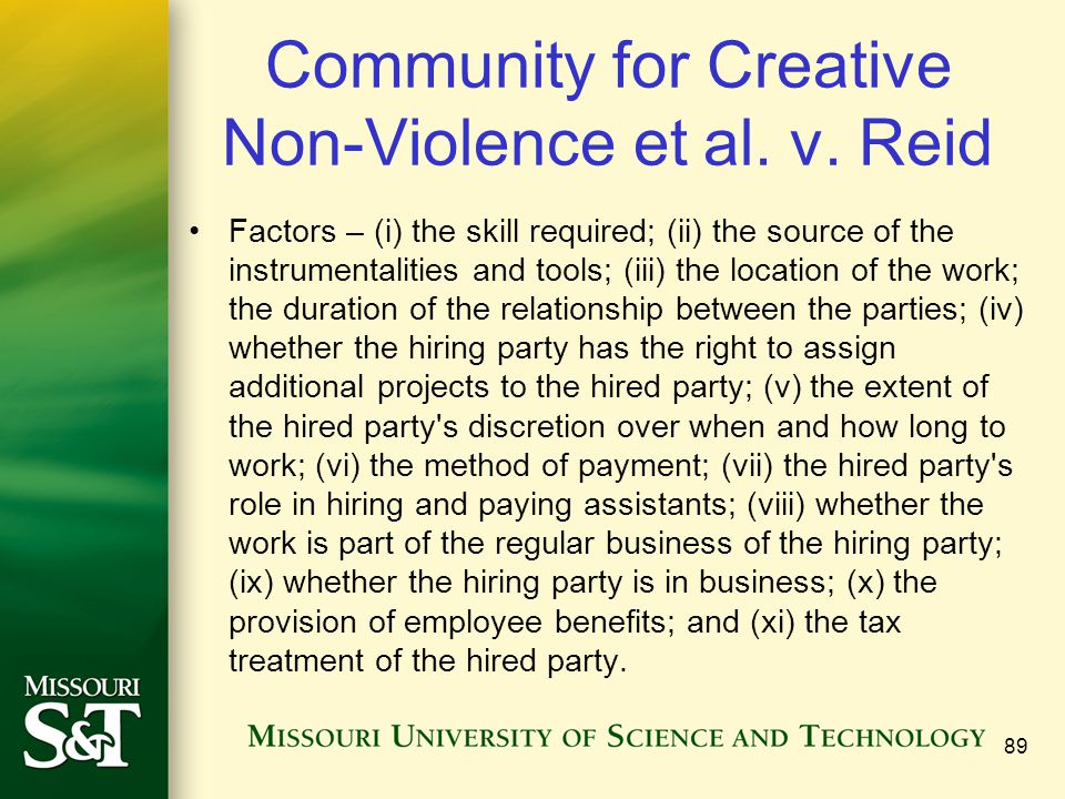 Community for Creative Non-Violence et al. v. Reid