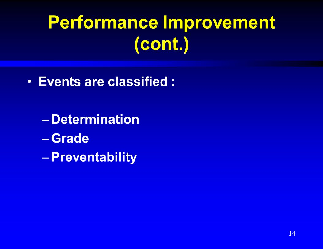 Performance Improvement (cont.)