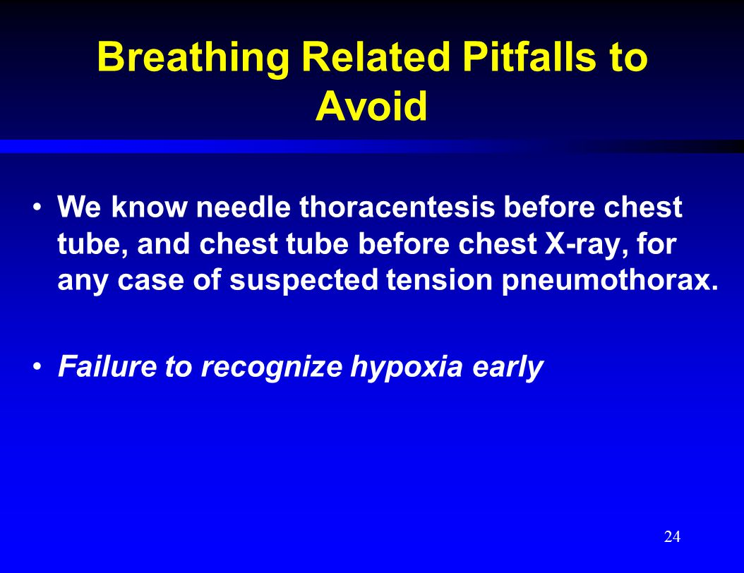 Breathing Related Pitfalls to Avoid