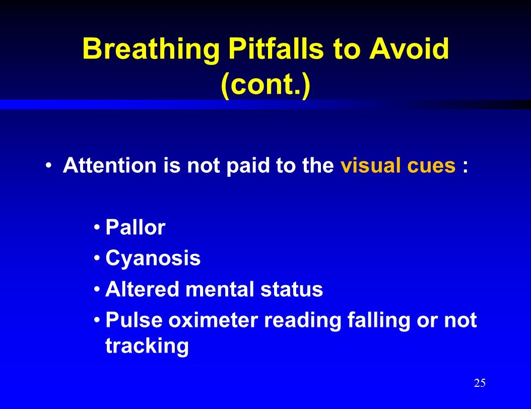 Breathing Pitfalls to Avoid (cont.)