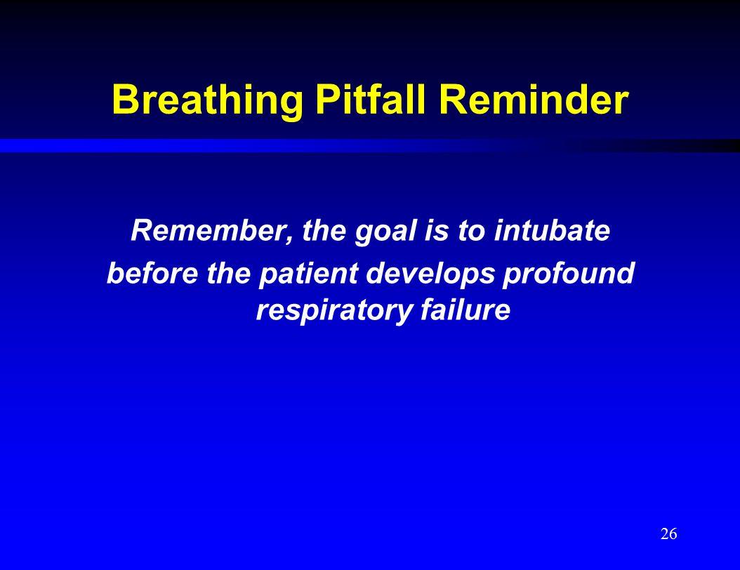 Breathing Pitfall Reminder