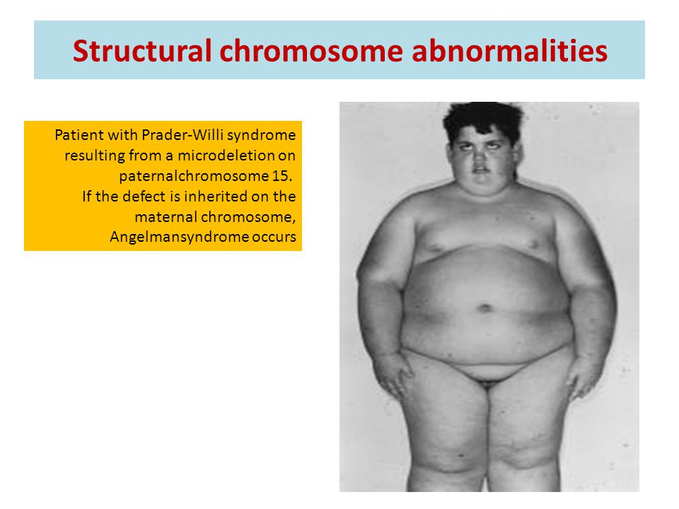 Structural chromosome abnormalities