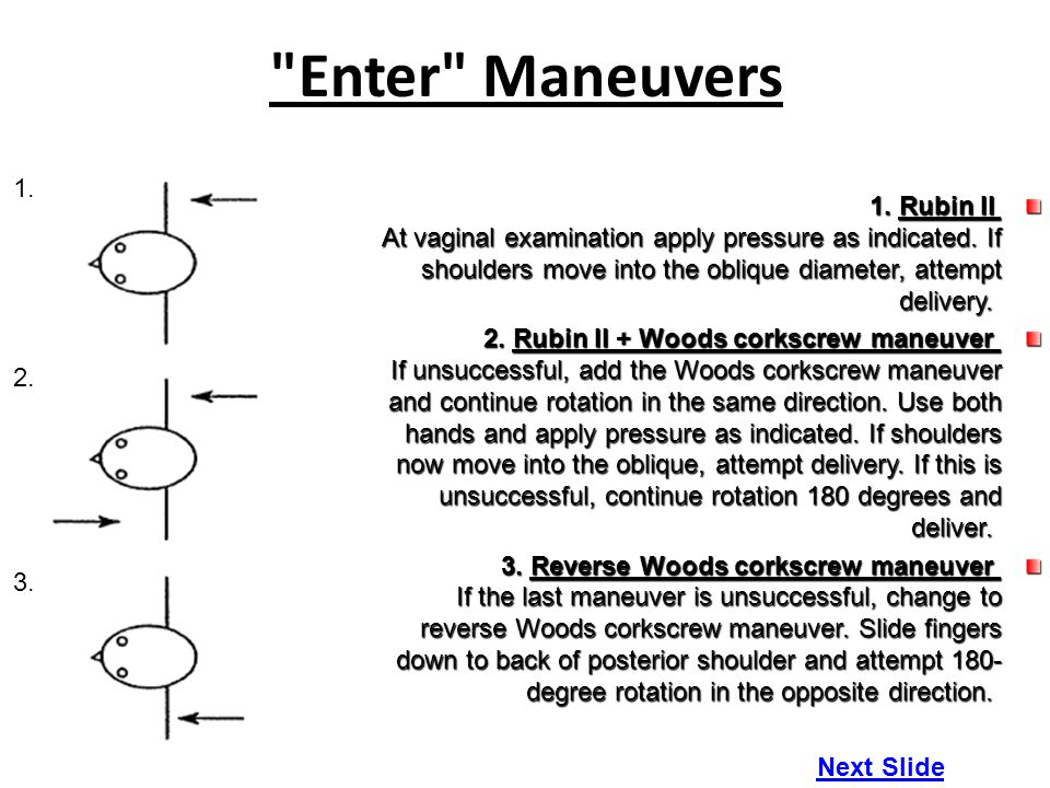 Enter Maneuvers 1. 2. 3.