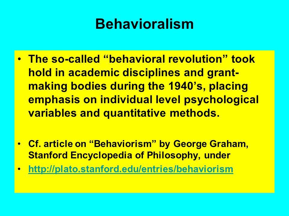 Behavioralism