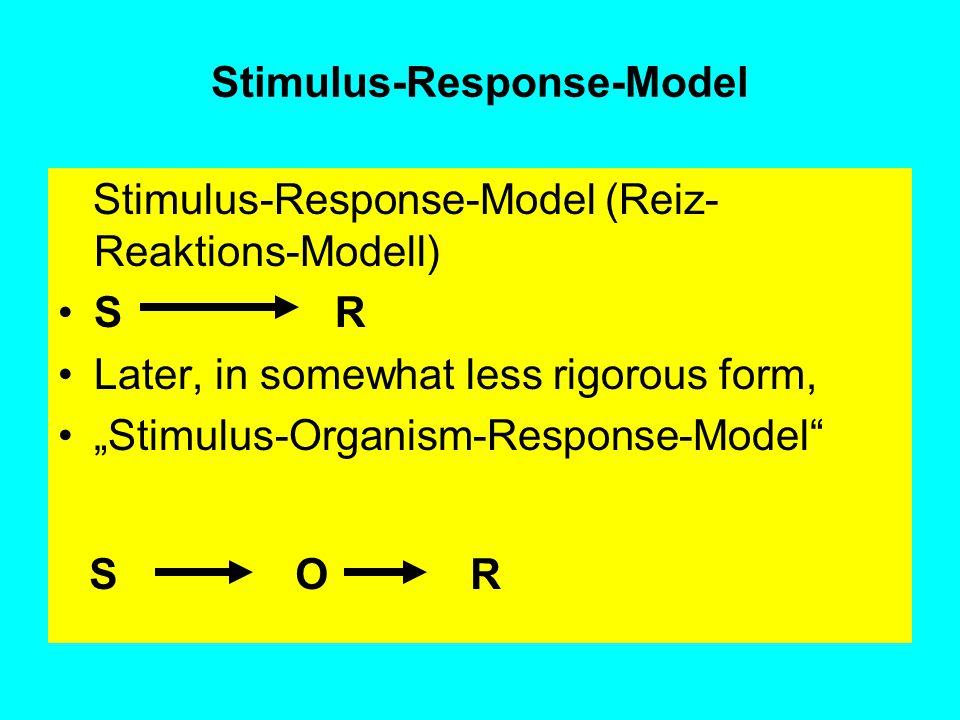 Stimulus-Response-Model