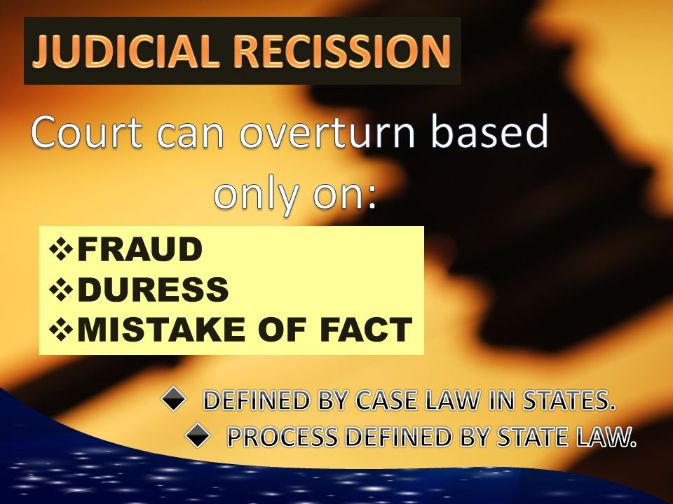  DEFINED BY CASE LAW IN STATES.  PROCESS DEFINED BY STATE LAW.