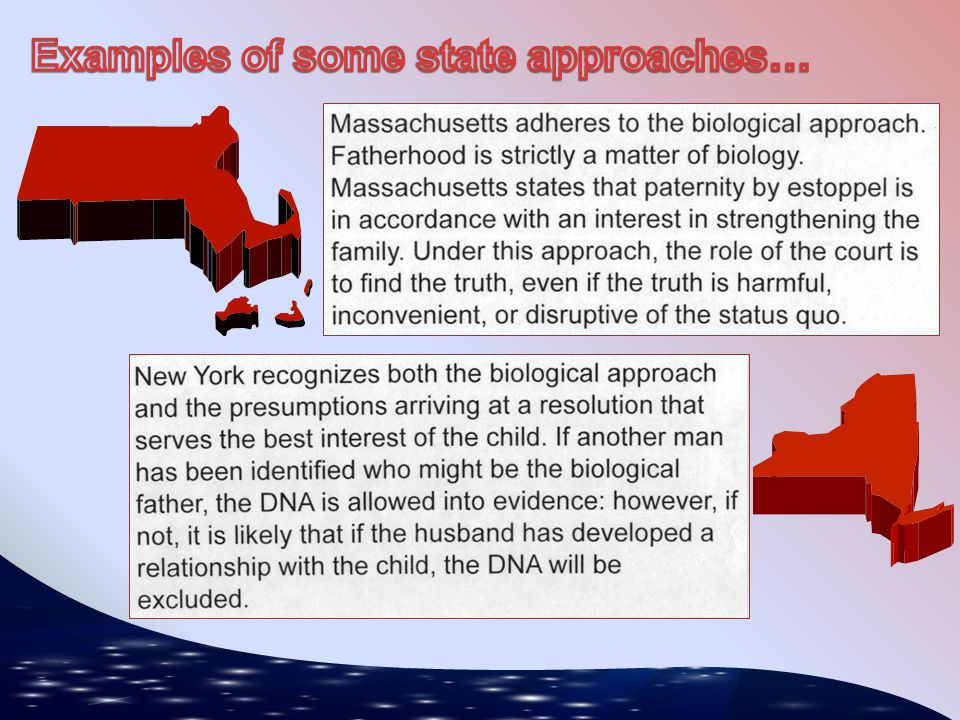 Examples of some state approaches…