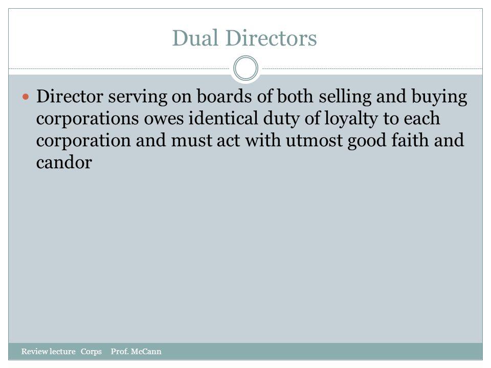 Dual Directors