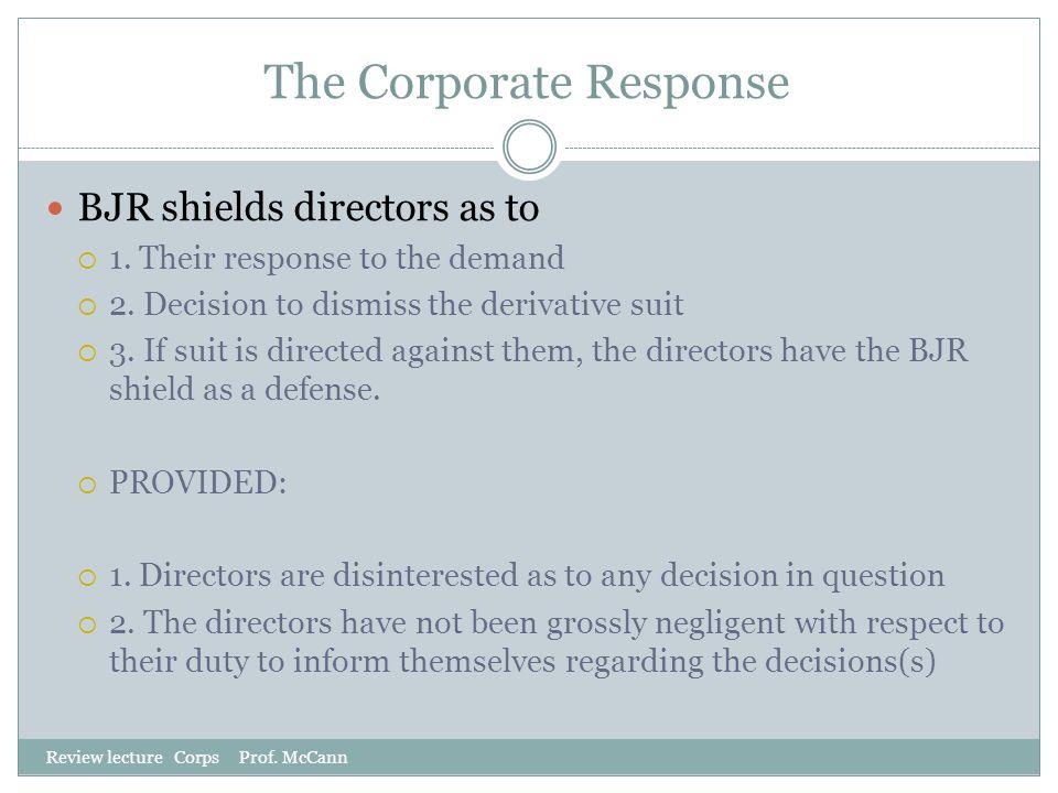 The Corporate Response