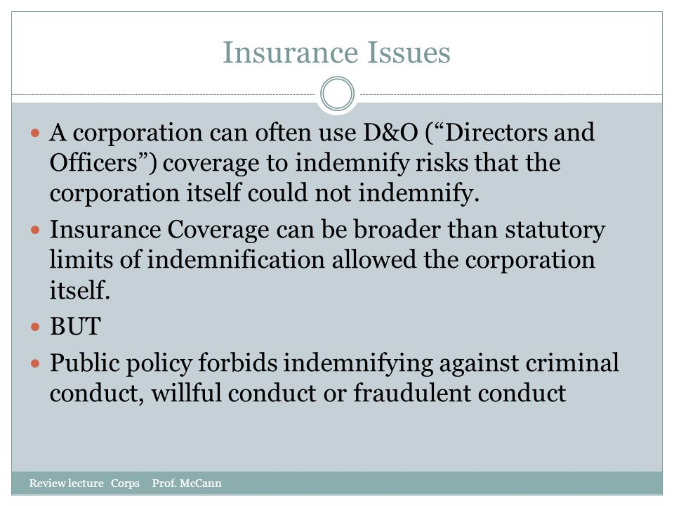 Insurance Issues