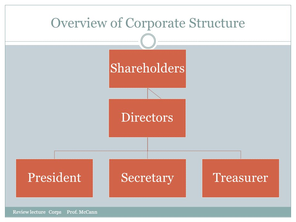 Overview of Corporate Structure