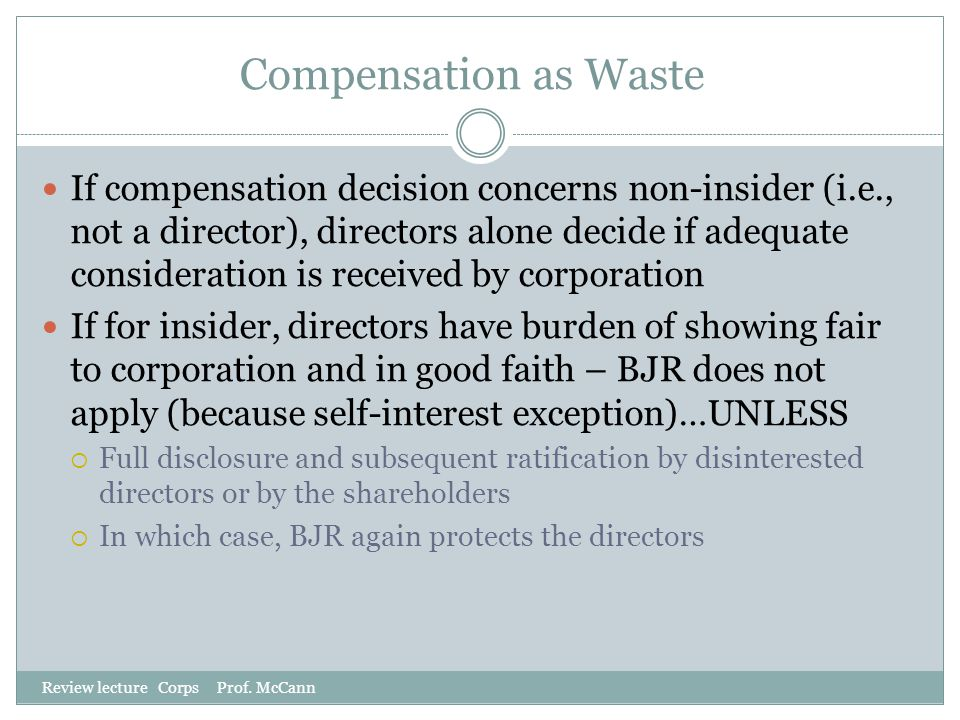 Compensation as Waste