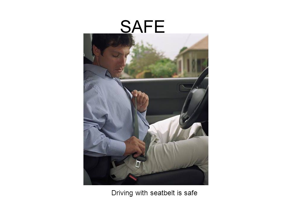 Driving with seatbelt is safe