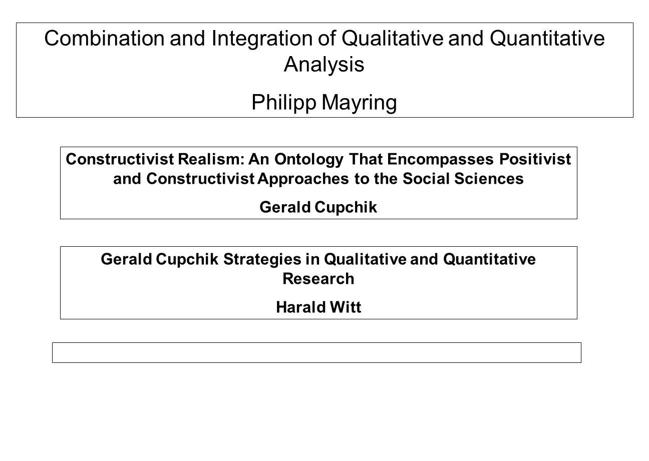 Gerald Cupchik Strategies in Qualitative and Quantitative Research